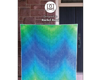 Gelato Ombre Quilt Pattern - One Fabric Design - Multiple Size options - Rachel Rossi - DIY Project - Instructions only