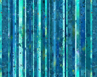 Water Line Fabric - Wavy Textured Line - Ocean State by Pam Vale for Studio E - 4505 17 Blue  - Priced by the Half yard