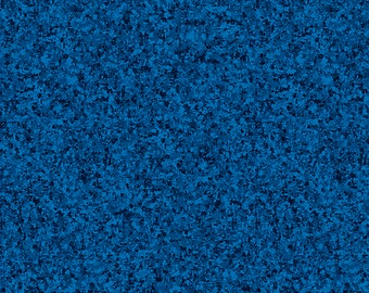 Blue - Rich Blue Solid Textured Fabric - Quilting Treasures QT Basics Color Blend II - 23528 BY Liberty Blue - Priced by the 1/2 yard