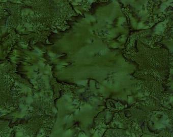 Hoffman Bali Batik - Hoffman Fabrics - 1895 141 Pine - Medium Dark Green  - Priced by the Half Yard