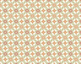 Closeout - Floral Fabric - Aubrey Tiny Floral in White by Studio E Fabrics 1724 100 - Sold by the yard