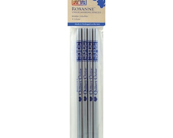 Silver Chalk Marking Pencils by Roxanne Quilters Choice - Water Rinse Off - 4-pack