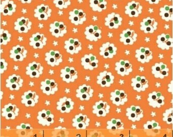 Retro Flower Fabric - A is For Alphabet by MY<3 KT for Windham Fabrics 37344 7 - Priced by the 1/2 yard