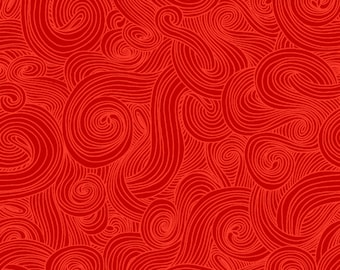 Just Color - Color Swirl - Color Tonal - Studio E - 1351 Red - Priced by the half yard