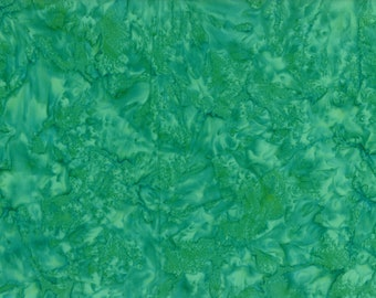 Solid Batik Fabric - Wilmington Rock Candy Batik - Washed Solid -  2678 774 Teal - Priced by the half yard