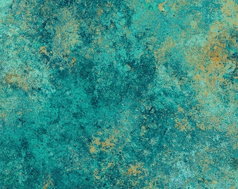 Solstice Fabric - Stonehenge 10th Anniversary - Basic Blender Gradations - Northcott  39382-68 Teal - Priced by the 1/2 yard