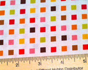 Mini Square Fabric - Heaven & Helsinki Spare a Square by Patty Young for Michael Miller Fabrics DC5594 Orange - Priced by the 1/2 yard