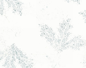 Hoffman Bali Batik - Delicate Leaf Batik Hoffman Fabrics - 2248 190 Ice Blue - Priced by the Half Yard