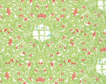 Floral Fabric - Flora Secret Windows by Lauren & Jessi Jung for Moda Fabrics 25052 18 Leaf - Priced by the 1/2 yard