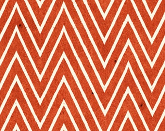 Chevron Fabric - Draw Near by Janet Wecker Frisch - Quilting Treasures 23376 Orange Red -  Priced by the 1/2 yard