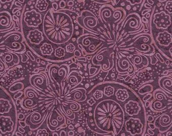 Flower Scroll - Tapestry Tonal  by Timeless Treasures C6909 Purple - Priced by the 1/2 yard