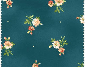 Floral Fabric, Posy Fabric, Bouquet Fabric from My Secret Garden by Marti Michell and Maywood Studios 1973-N - 1/2 yard