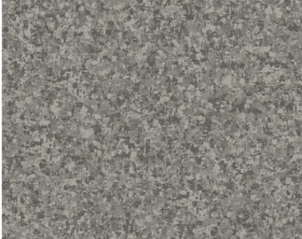 Graphite Gray Solid Textured Fabric - Quilting Treasures QT Basics Color Blend  - 23528 K - Priced by the 1/2 yard