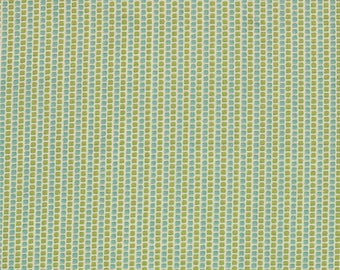 Dotted Stripe Fabric - Around the Clock from Road 15 by Sweetwater for Moda Fabrics 5527 11 Pickle Rain - Priced by the 1/2 yard