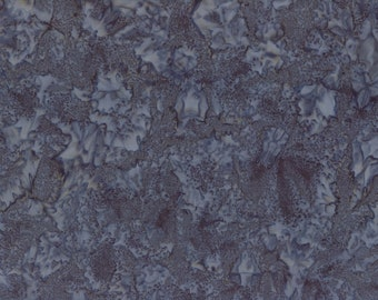 Solid Batik Fabric - Wilmington Rock Candy Batik - Washed Solid -  2678 992 Dark Gray - Priced by the half yard