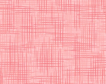 Harmony Blender Fabric - Basket Weave Fabric, Woven Texture Print by Quilting Treasures 24776 CR Peony Pink  - Priced by the 1/2 yard