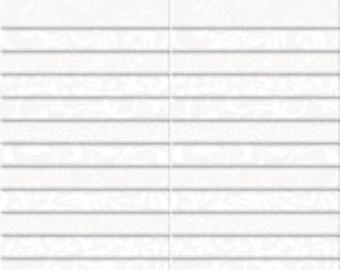 Essential Basics - White on White Blender -  Wilmington Prints 40 Karat Jewel 842 12 842 - 2.5 Inch WOF Strips 40 piece per pack