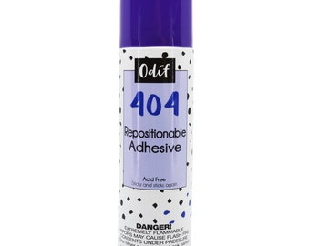 Odif 404 Repositionable adhesive - Acid-Free spray adhesive 7.05 ounce aerosol - 43041