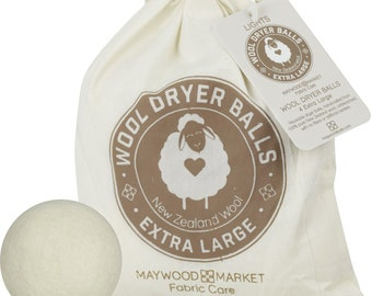 Wool Dryer Balls - Light Color - New Zealand Wool - 4 balls per bag