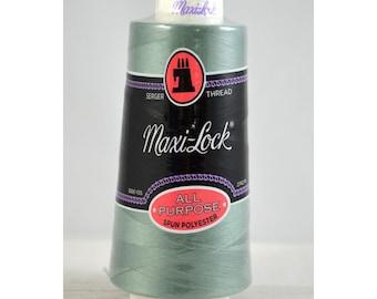 Maxi Lock 50wt Polyester Thread - Serger Thread - 3000yd - 51-44835 - Aqua (blue gray)