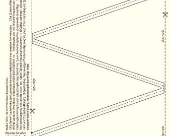Make Your Own Banner, Banner Pennant Flag Panel - Pre-printed Fusible Interfacing from QuiltSmart QS40004 - DIY