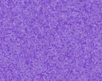 Hyacinth Purple Solid Textured Fabric - Quilting Treasures QT Basics Color Blend - 23528 VL - Priced by the 1/2 yard