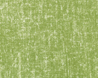 Simply Style Tweed Fabric - Green Textured Fabric - Texture Solid Tweed by V & Co for Moda Fabrics 10818 17 Lime Green - 1/2 yard