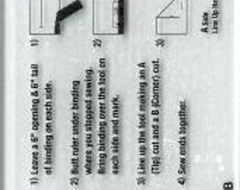 Mini Binding Tool & French Braid Template Ruler # TQM003 -  Mini Acrylic