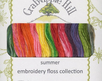 Lecien Crabapple Hill Embroidery Floss - Meg Hawkey Autumn Collection 12-skein, 6-strand cotton - choose Autumn or Summer
