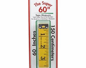 Super 60-Inch (150 cm) Tape Measure Big Yellow Extra Wide (3/4 inch) - Sullivans 12249
