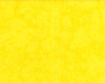 Solid Batik Fabric - Wilmington Rock Candy Batik - Washed Solid -  2678 555 Yellow - Priced by the half yard