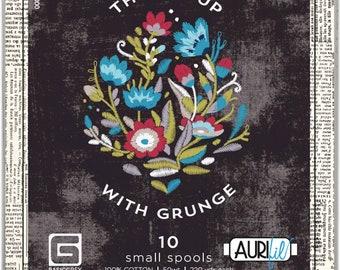 Aurifil 50wt Cotton Thread - Thread Up with Grunge -  Mako Cotton- 10-pack thread