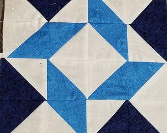 Quilters Trek 2020 Row - True Blue - River Eddy Design - Fabric Kit, Pattern, Bonus Token - DIY Project