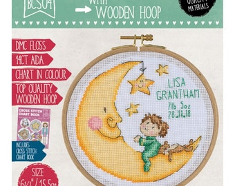 Lullaby Moon Cross Stitch Kit - Tuva Publishing - BCS04 Sold by the each