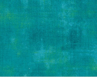 Blue Textured Fabric - Dynasty Grunge by BasicGrey for Moda Fabrics 30150 389 Turquoise Blue - end of bolt 24 inch