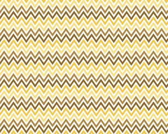 Chevron Fabric - Yellow Zigzag Fabric from Indie Chic by My Minds Eye for Riley Blake C3245 Yellow - Priced by the 1/2 yard