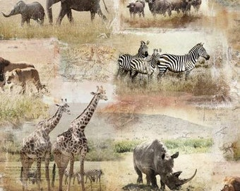 Global Luxe Collection - 3Wishes Fabric by Pi Creative Art - African Safari - 18007 - Priced by the half yard