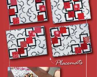 Place mat Pattern, Table Runner Pattern - BQ Goes Mini by Debbie Bowles for Maple Island Quilts - MIQ 828 - DIY Pattern Only