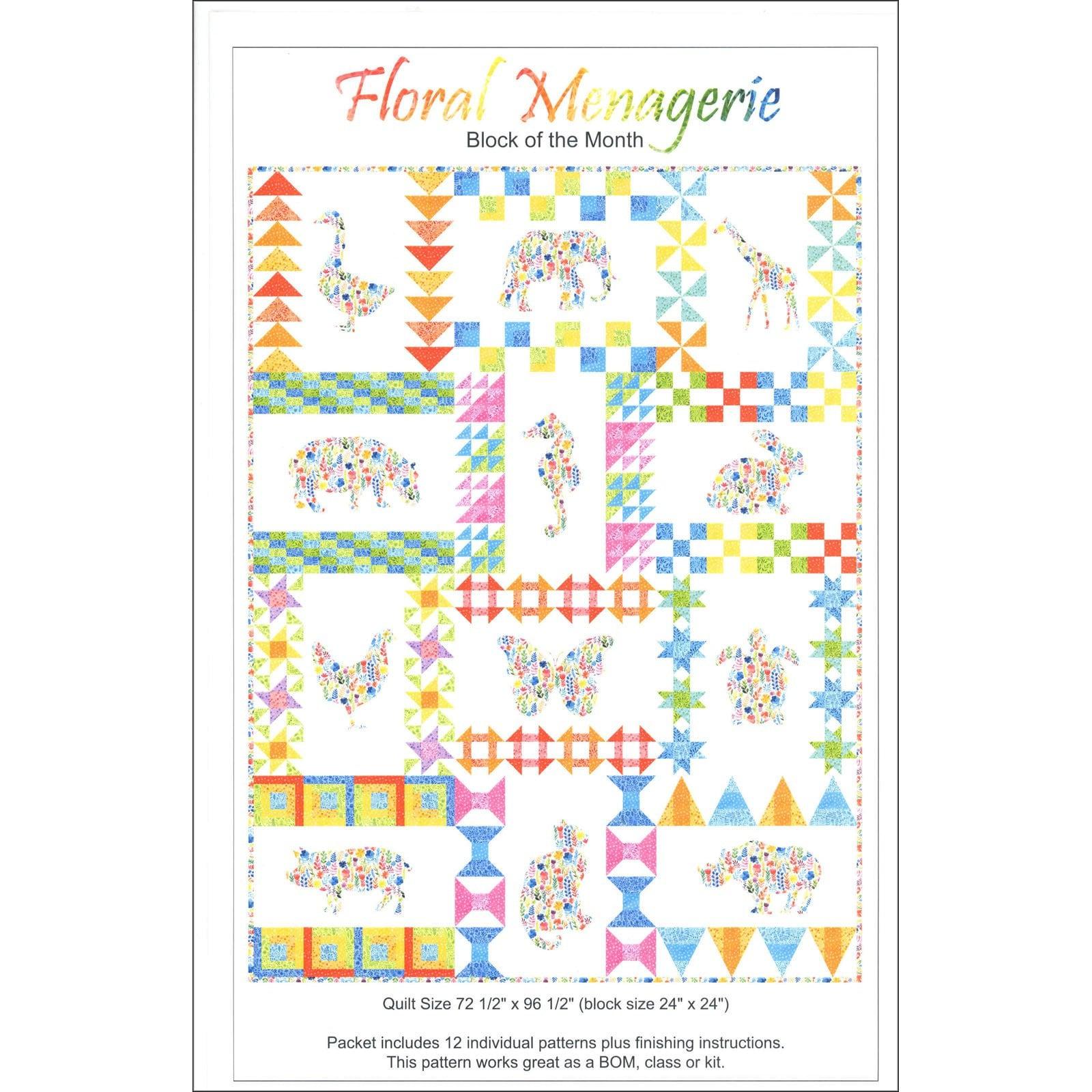Floral ménagerie couette Kit - tous les les les tissus pour créer un 73