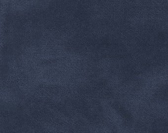 Color wash Woolies Cotton Flannel Fabric - Maywood Studios Midnight Navy F9200 N  - End of bolt 33-Inch