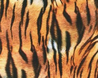 Animal Fabric - Tiger Skin Print - Animal Kingdom Collection - Kaufman  19875286 -  Price by the  1/2 yard