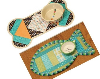 Quilt As You Go Pet Placemat - June Tailor - DIY Project Printed Fusible Interfacing - Choose  From Cats # JT-1439 or Dogs # JT-1438
