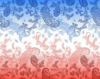 Let Freedom Ring - First Blush Studio for Henry Glass 9941 87 - Red White Blue Ombre - Priced by the half yard