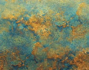Ombre Fabric - Stonehenge Gradations Marble - Blender Fabric - Northcott  DP39420 69 Copper Blue - Priced by the 1/2 yard