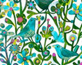 Alfie Cat - Bluebird - Este MacLeod for Windham  52299D-5 Blue - Priced by the Half Yard