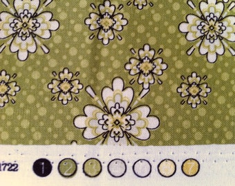 Closeout Sale - Floral Fabric - Little Floral in Green from Aubrey by Studio E Fabrics E60 1722 66 - SOLD by the Yard
