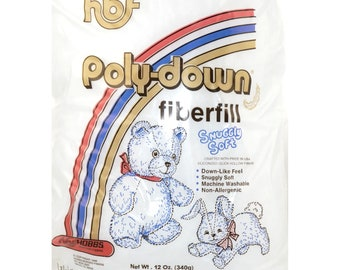 Hobbs Poly-Down Fiberfill Snuggly Soft - Stuffing HOBPD12S - Sold by the 12 Ounce (340g) bag