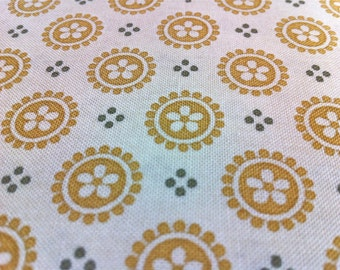 Golden Medallion Fabric - Full Sun II Flower Medallion by Willow Berry Lane for Maywood Studio 2121 WS - Priced by the 1/2 yard