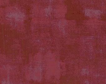 Burgundy Textured Fabric - Grunge Basics by BasicGrey for Moda Fabrics 30150 297 -  Burgundy red - Priced by the half yard