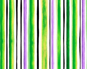 Brooke Fabric - Watercolor Stripe by Studio 8 for Quilting Treasures 26322 H - Lime - Priced by the 1/2 yard